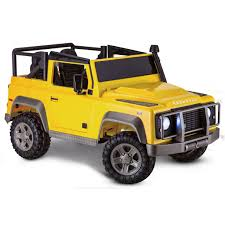 defender land rover off road avigo land rover defender 12 volt ride on yellow toys