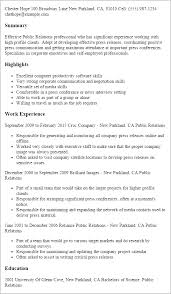 Skill Set Resume Examples by Professional Public Relations Templates To Showcase Your Talent