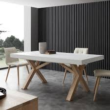 cuisine avec table à manger white extendable dining table with solid wood frame