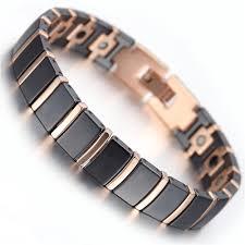black rose bracelet images Mens tungsten bracelet rose gold black 7 9 quot kb1497 bracelets jpg