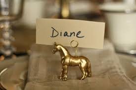 dare to diy entertain diy gold horse place card holders on a