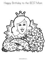 printable pictures happy birthday mom coloring pages 89