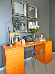 Home Decor Orange Magnificent Room Decor With Colorful Deck Including Drawers In
