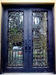 Exterior Glass Front Doors by Front Doors Wood Glass Iron Front Doors Door Design Wood Glass