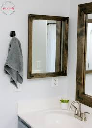 Bathroom Vanity Farmhouse Style by Farmhouse Style Diy Vanity Mirrors Tutorial Must Have Mom