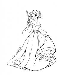 the elegant princess leia coloring pages with regard to really