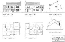 side elevation communicating information floor plans and elevation