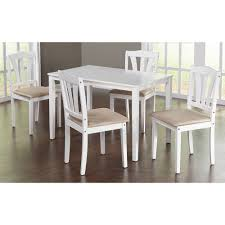 White Wood Dining Room Table by Metropolitan 5 Piece Dining Set Multiple Colors Walmart Com