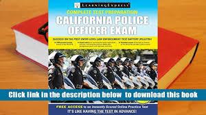 audiobook california police officer exam learningexpress llc