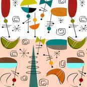 Mid Century Modern Fabric Reproductions Boomerang Fabric Wallpaper U0026 Gift Wrap Spoonflower
