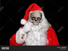 Skeleton Masks For Halloween by Creepy Image Of Santa Claus With A Skeleton Mask Scary Santa
