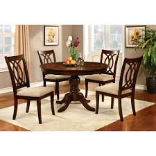 Cherry Wood Dining Room Set by Amazon Com Furniture Of America Frescina Round Dining Table Tables