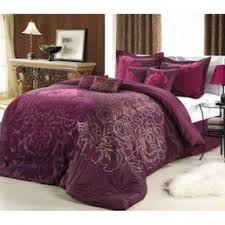 Plum Bedding And Curtain Sets Silk Bedroom Sets Foter