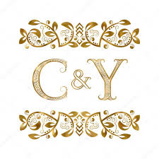 c y vintage initials logo symbol the letters are surrounded by