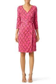 dvf wrap dress pink print julian two wrap dress by diane furstenberg for 70