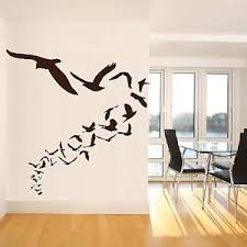 Wall Design For Hall Iconic Stickers Flock Birds 29 Flying Cartoon Animal Wall