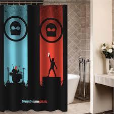 Custom Curtain Sizes Twenty One Pilots Custom Shower From Desemberkah On Etsy Things