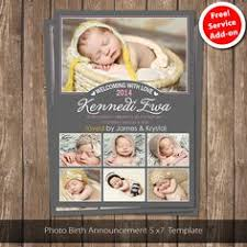 instant download baby announcement template photoshop template