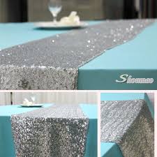 silver color wedding table runners for round tables buy table