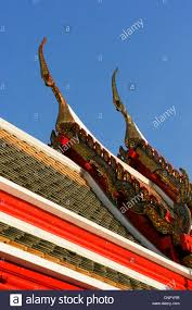 thailand buddhist temple ornaments on the roof of the temple