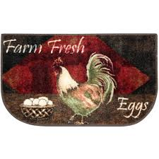 vintage rooster kitchen washable rectangular rug jcpenney