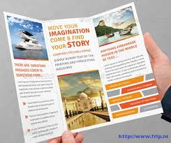 travel and tourism brochure templates free 30 best travel agency trifold brochure print templates frip in
