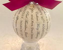 anniversary christmas ornament custom memory ornaments by happythoughtsbykelly on etsy