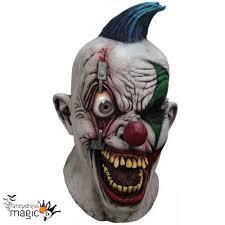 morph digital dudz pinned eye clown mask halloween fancy dress