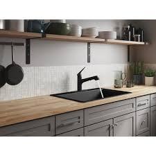 home depot kitchen sink vanity kohler kennon dual mount neoroc granite composite 33 in 1