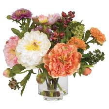 Peony Floral Arrangement by Peony Silk Flowers Sheilahight Decorations