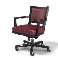 Leather Office Armchair Caffe Ufficio 3d Max