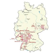 map of regions of germany germany wine tasting tours german winery tours wine tours