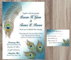 peacock invitations wordings peacock wedding invitations with rsvp with diy peacock