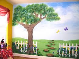kids tree to paint on wall children u0027s murals for baby nursery