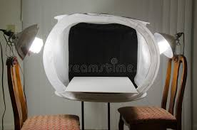 home photography studio home photography studio light box with lights stock photo image
