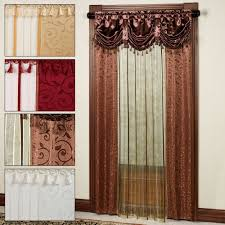 living room curtains with attached valance garnish partition for