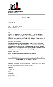 Terminate Lease Letter Eviction Letter To Tenant