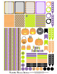 Free Printables For Halloween by Free Halloween Planner Sticker Printable Falling Glitter