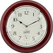 Battery Operated Desk Clock Clocks Digital Wall U0026 Desk Clocks Staples
