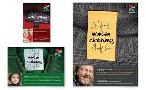 drive brochure templates winter clothing drive flyer ad template design