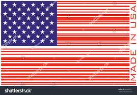 Flags Made In Usa American Flag Vector Illustration Barcode Made Stock Vector