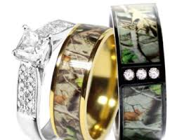 his and camo wedding rings camo wedding ring sets etsy