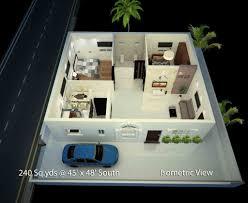 2bhk house plans way2nirman 240 sq yds 45x48 sq ft south face house 2bhk floor plan