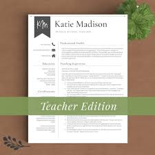 Actions Words For Resume Teacher Resume Template The Katie Madison U2013 Landed Design Solutions