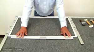 Mobile Window Screen Repair How To Re Screening A Fiberglass Window Screen Youtube