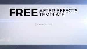 free after effects templates timeline story youtube