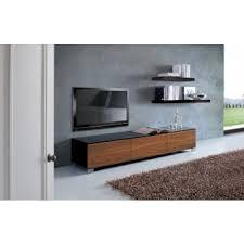 design kommoden lowboard walnuss schwarz tv schrank mit drei türen höhe 30 cm