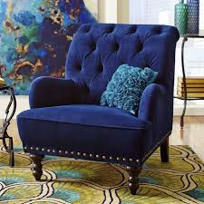 Accent Chair Modern Navy Blue Accent Chair Cozy Blue And Yellow Living Room Furniture