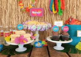 Luau Party Table Decorations Birthday Party Ideas Party Craft Ideas Diy Inspired