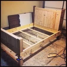bed frame diy wood bed frame plans build your own diy wood bed